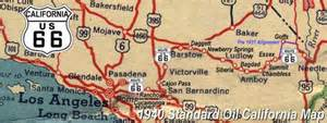 route 66 map california route 66 on the air in los angeles and santa
