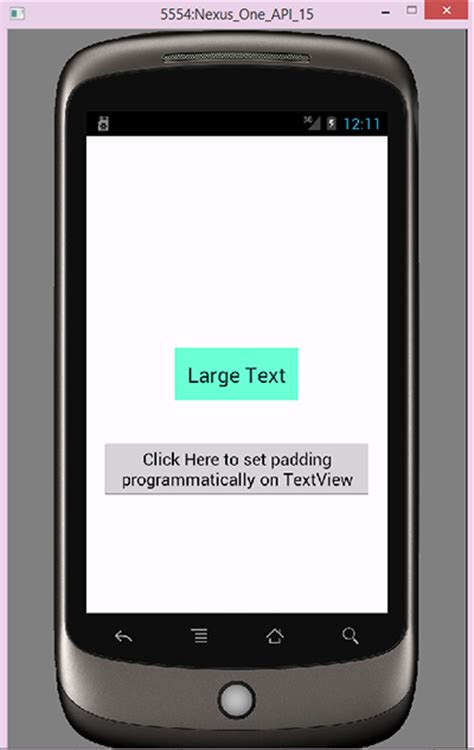 android padding android set textview padding programmatically tutorial android exles