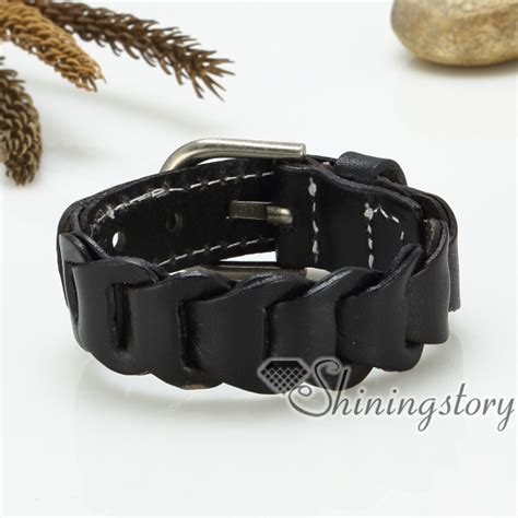 Handcrafted Leather Bracelets - genuine leather bracelets wristband jewelry handcrafted