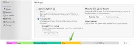 how to remove other data from iphone and ipod touch