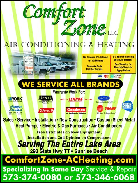 comfort zone heating and air conditioning comfort zone air conditioning heating llc sunrise beach