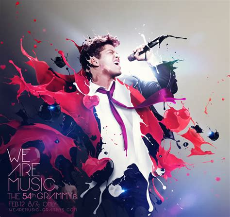 tutorial video klip bruno mars photoshop depthcore veterans develop artwork for 54th grammy awards