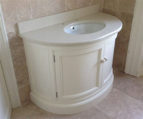 Vanity Unit Tops by Painted Curved Vanity Unit With Tigris Sand Quartz