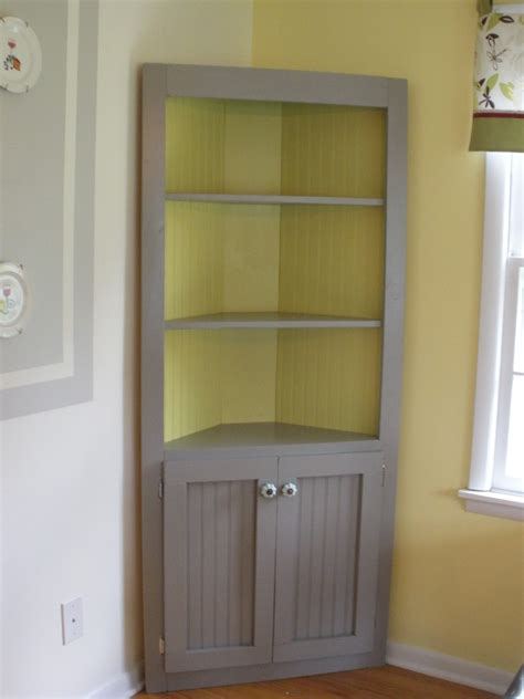 white corner cabinet diy projects