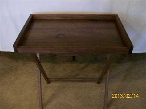 custom tv tray tables made solid hardwood tv tray tables with a lip by f t