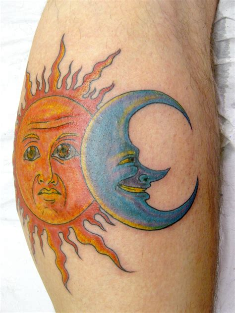 sun and the moon tattoo moon tattoos design ideas pictures me now