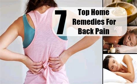7 top home remedies for back treatments