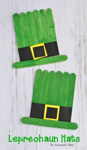 How To Make A Leprechaun Hat Out Of Paper - craft sticks leprechaun hat craft the resourceful