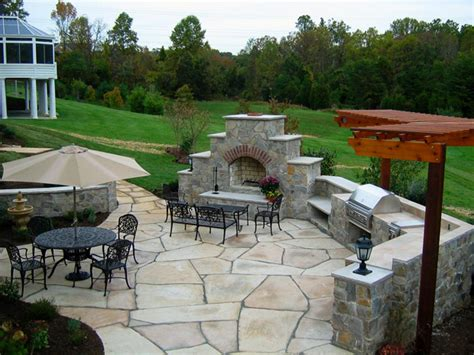 stone backyard patio awesome stone patio design ideas contemporary