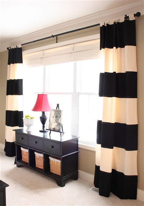 Black And Ivory Striped Curtains 10 gorgeous diy projects master bedroom edition