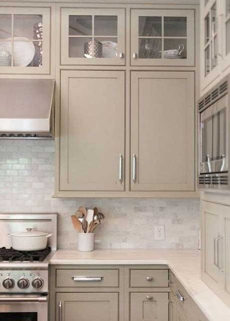 Taupe Kitchen Cabinets Taupe Painted Kitchen Cabinets
