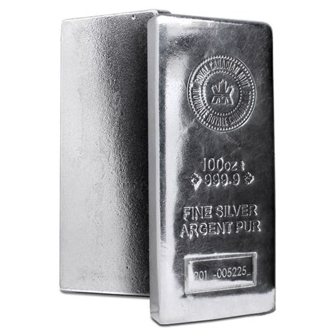 10 Oz Silver Bar Rcm 9999 New Style - 100 oz silver bar royal canadian mint ottawa bullion