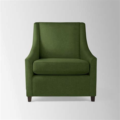 sweep armchair sweep upholstered armchair moss performance velvet