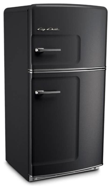 modern refrigerator big chill original 20 9 cu ft top freezer refrigerator