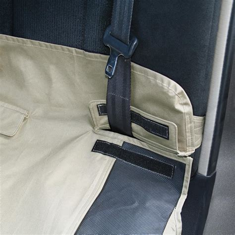 kurgo bench seat cover zippered opening for easy access to seatbelts