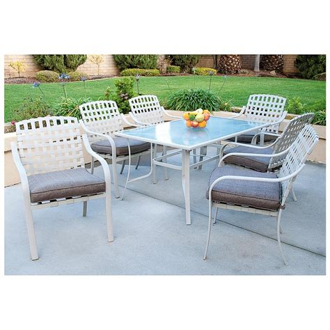 7 Pc Patio Dining Set 7 Pc Steel Patio Dining Set 235936 Patio Furniture At Sportsman S Guide
