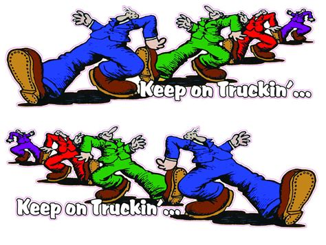 keep on truckin right amp left large 24 quot x 9 quot decals free