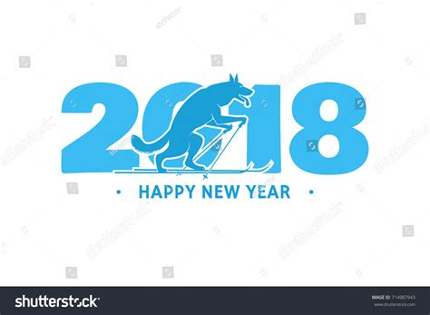 templates brochure happy new year 2018 happy new year greeting card stock vector 714987943
