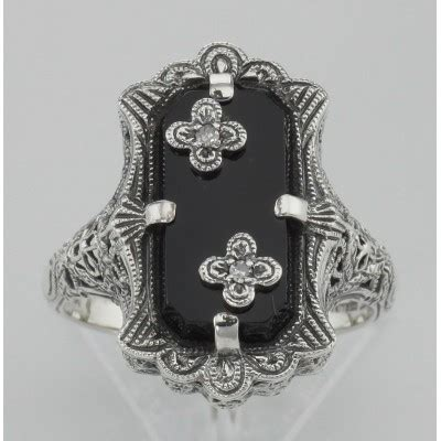 antique style jewelry  gifts victorian style black onyx