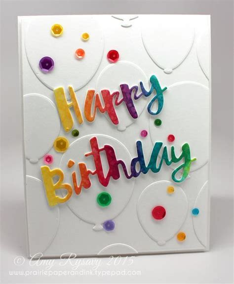 make happy birthday card simon says st painted happy birthday wafer die