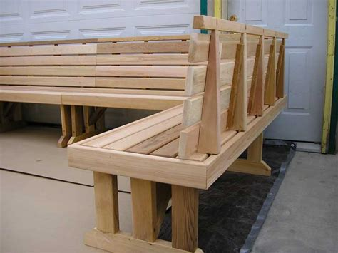 wrap around bench wrap around sectional cedar benches