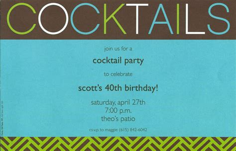 Cocktail Party Invitations Party Invitations Templates