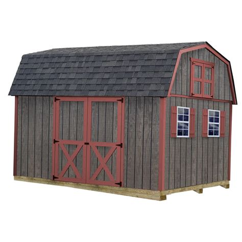 10 x 12 shed with floor best barns arlington 12 ft x 24 ft wood storage shed kit