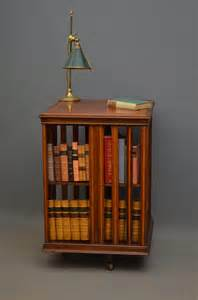 Revolving Bookshelves Edwardian Mahogany Revolving Bookcase Antiques Atlas
