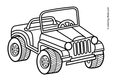 Aufkleber Für Auto Lustig by Jeep Transportation Coloring Pages For Kids Printable