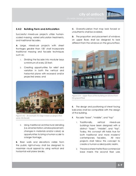 design guidelines purpose chapter 5 mixed use design guidelines