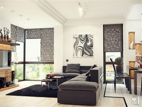 black living room designs black white gray living room interior design ideas
