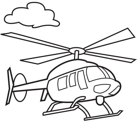 Helicopter Coloring Pages For Kids Coloring Home Helicopter Coloring Page