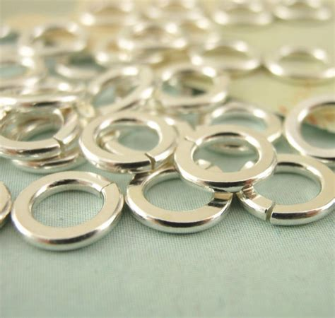 custom handmade hammered argentium sterling silver jump rings