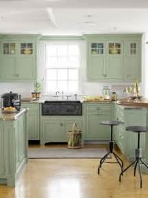 Green Kitchen Cabinets Painted by Green Cabinets Foter