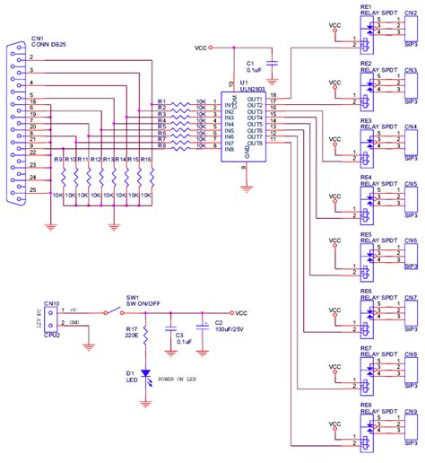 8 channel lpt relay board electronics lab