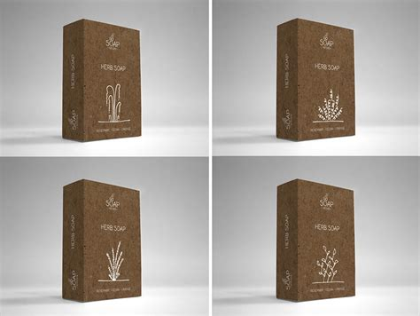 60 Time Saving Print Templates For Adobe Indesign Photoshop Soap Box Packaging Template