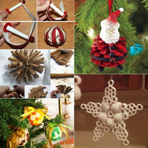 christmas decorations made at home wonderful diy 30 homemade christmas ornaments