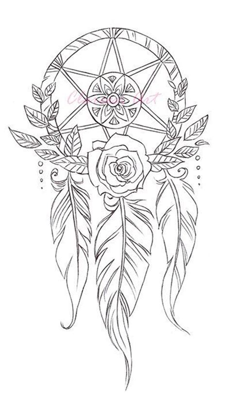 dream catcher coloring page for adults coloring page dreamcatchers by clareandcollie