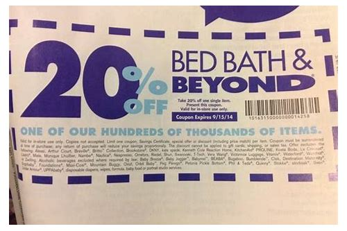 coupons accepted at bed bath and beyond