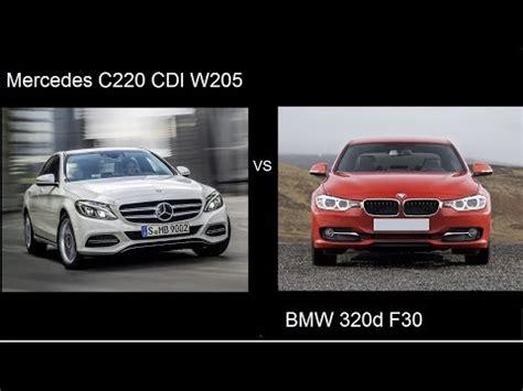 mercedes c 220 bluetec w205 vs bmw 320d f30