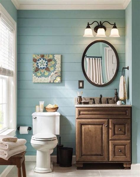 bathrooms i love earthtones rustic simple powder room