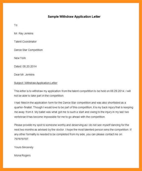 College Application Withdrawal Letter sle invitation letter competition choice image