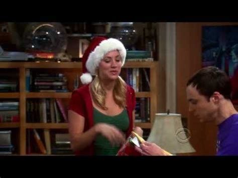 the big bang theory penny s christmas gift to sheldon