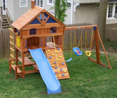 kids backyard playsets wooden kids outdoor playsets new decoration how to