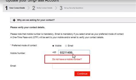 reset singpass online psa manging your singpass account singapore