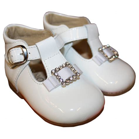 white patent leather shoes panyno white patent leather shoes with diamante buckle