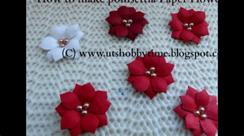 paper poinsettia flower tutorial how to make poinsettia paper flower diy paper flower