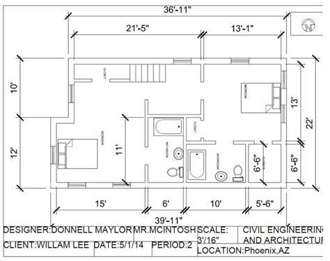 standard house measurements autocad project