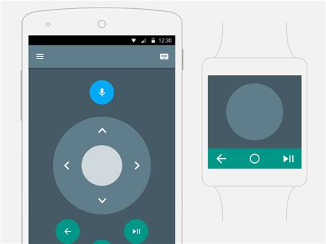 material design android tv remote app uplabs - Android Tv Remote App
