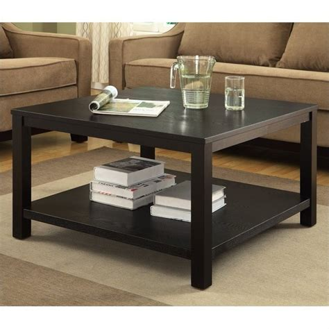 Black Square Coffee Table 30 Quot Square Coffee Table In Black Mrg12sr1 Bk